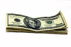 Curreny op de lijst Royalty-vrije Stock Foto's