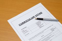 Curriculum vitae Royalty Free Stock Photo