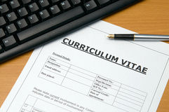 Curriculum vitae Royalty Free Stock Photos