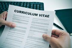 Curriculum vitae royalty-vrije stock fotografie