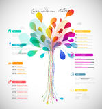Curriculum vitae colorido abstrato Imagem de Stock Royalty Free
