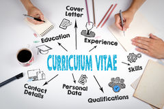 Curriculum Vitae Concept. The meeting at the white office table Royalty Free Stock Photo