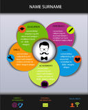 Curriculum vitae Conception créative moderne de résumé Illustration Libre de Droits