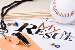 Curriculum vitae del béisbol Fotos de archivo libres de regalías