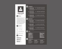 Curriculum vitae del CV/oscuridad del curriculum vitae Fotografía de archivo