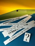 Curriculum vitae (difficult choice) Stock Image