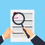 Curriculum vitae document icon. Human resources management or analyzing personnel resume. Royalty Free Stock Image