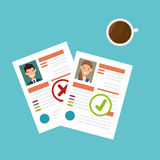 Curriculum vitae document icon Royalty Free Stock Photo