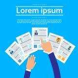Curriculum vitae-Einstellungs-Bewerberjob Lizenzfreie Stockfotos