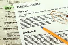 Curriculum Vitae  Form Stock Images