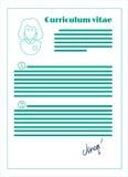 Curriculum vitae, linea progettazione illustrazione vettoriale