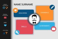 Curriculum vitae Modernes kreatives Design der Zusammenfassung Stockfotos