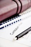 Curriculum vitae o curriculum vitae Foto de archivo