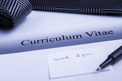 Curriculum vitae o riassunto Fotografia Stock Libera da Diritti