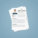 Curriculum vitae papers Stock Images