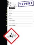 Curriculum vitae para un terrorista stock de ilustración