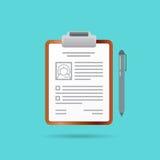 Curriculum Vitae Recruitment Candidate Job Position Vector Illus Stock Photo