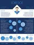 Curriculum vitae resume in blue and white Royalty Free Stock Photos