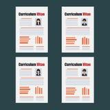 Curriculum Vitae template. Curriculum Vitae or resume template Royalty Free Stock Images