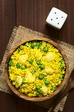 Curried Couscous with Pea and Cauliflower Royalty Free Stock Image