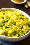 Curried Couscous with Pea and Cauliflower Royalty Free Stock Photos