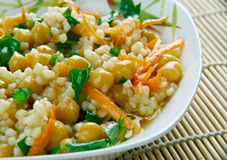 Curried Couscous Salad Royalty Free Stock Photos
