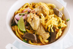 Curried Noodle Soup. Stock Photography