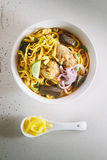 Curried Noodle Soup. Stock Photo