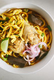 Curried Noodle Soup. Stock Images