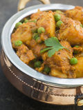 Curried Potatoes Peas and Cumin Royalty Free Stock Image