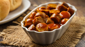 Curried sausage Royalty Free Stock Photography
