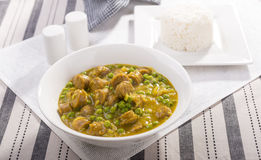 Curried Sausages Royalty Free Stock Photos