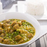 Curried Sausages Royalty Free Stock Photo