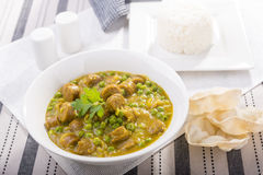 Curried Sausages Royalty Free Stock Images
