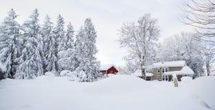 Currier και ives-τύπων σκηνή Στοκ φωτογραφίες με δικαίωμα ελεύθερης χρήσης