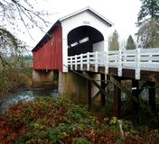 Currin covered bridge in Cottage Grove, Oregon Royalty Free Stock Image