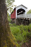 Currin Covered Bridge Row River Valley Vintage Road Travel Royalty Free Stock Photo