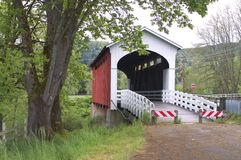 Currin River Covered Bridge Oregon Transportation Stock Images