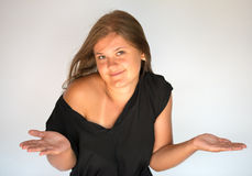 Currios girl Stock Photography
