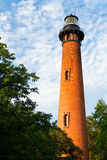 Currituck海滩灯塔在Carolla, NC 免版税图库摄影
