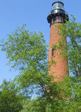 Currituck Lighthouse. The only all brick lighthouse in the outerbanks of North Carolina Stock Photography