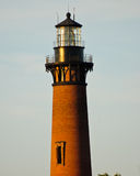 Currituck Lighthouse in Currituck, North Carolina Outer Banks. View of Currituck Lighthouse in Currituck, North Carolina Outer Banks Stock Photo