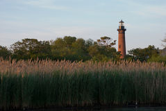 Currituck Lighthouse in Currituck, North Carolina Outer Banks Royalty Free Stock Images