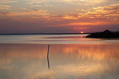 Currituck Sound at Sunset stock images