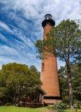 Currituck strandljus i Corolla, North Carolina fotografering för bildbyråer