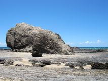 Currumbin Rock, Gold Coast, Australia. A large rock at the end of Currumbin Beach royalty free stock photos