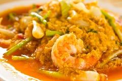 curry aktiverad räka Arkivbild