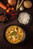 Curry amarillo tailandés imagenes de archivo