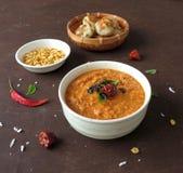 Curry asciutto della lenticchia Fotografia Stock