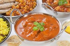 Curry-Bankett-Auswahl stockfoto